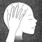 ※手のひらで頭を包むようにし、 指先で「ぎゅっと押す~ゆるめる」を 繰り返してください。